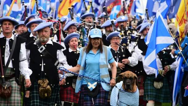 Митинг за независимость Шотландии в 2019