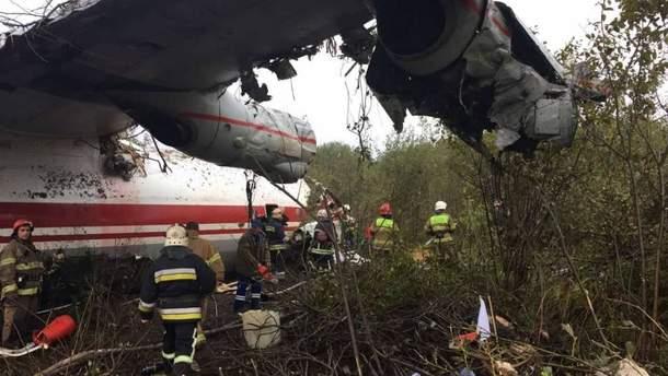 Авария самолета Ан-12 под Львовом