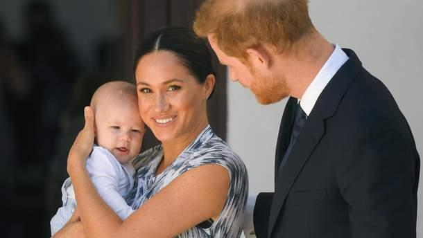 Меган Маркл, принц Гарри и малыш Арчи