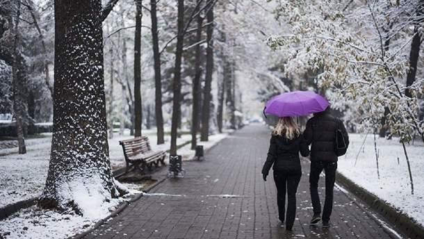 В Киеве выпал первый снег (фото иллюстративное)