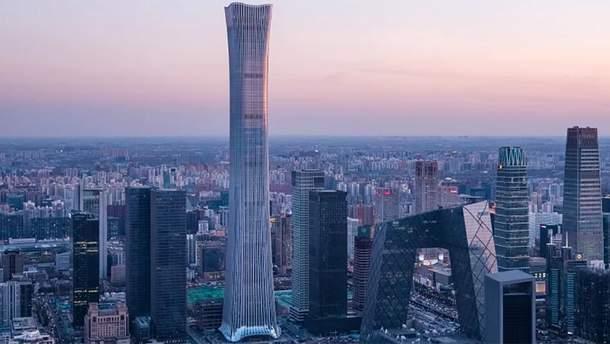 Один из самых высоких небоскребов мира