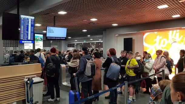 20 украинцев не смогли вылететь из аэропорта Риги