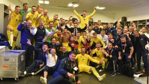 Украина – Португалия: как украинские игроки праздновали победу – видео и фото из раздевалки