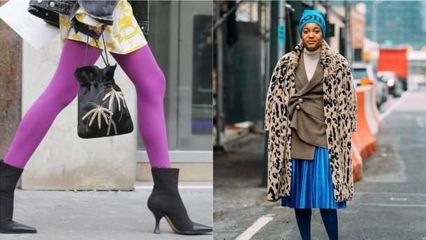 Як носити кольорові колготки восени 2019 року: стильні поради з фото