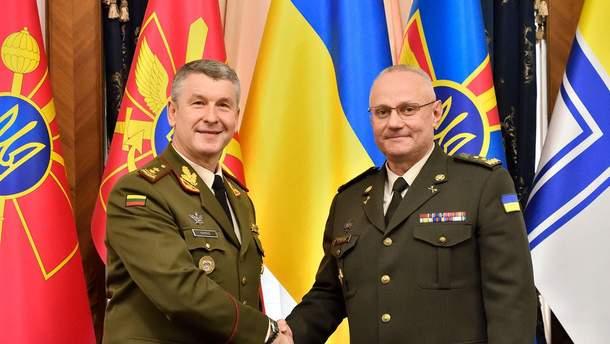Військове командування Литви з офіційним візитом навідалося до України
