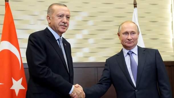 Путін і Ердоган домовилися про спільний контроль сирійсько-турецького кордону