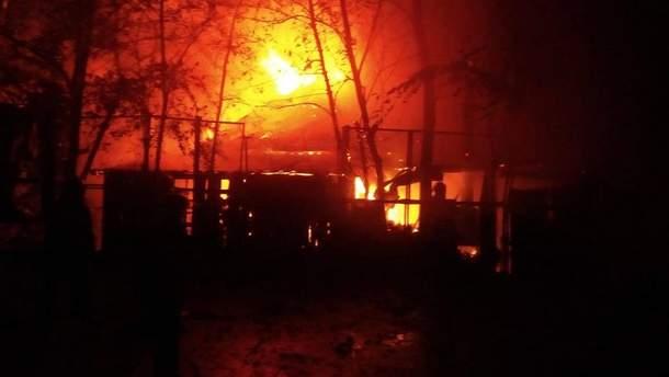 Пожар в ресторане LION