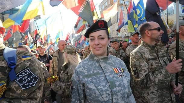Задержанная военная ВСУ Инна Грищенко