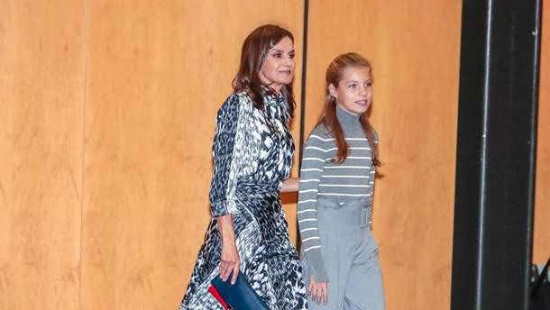 У леопардовій сукні від Бекхем: королева Іспанії приголомшила публічним виходом
