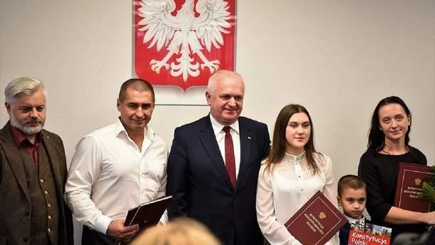 Андрій Сироватський разом із сім'єю отримав польське громадянство