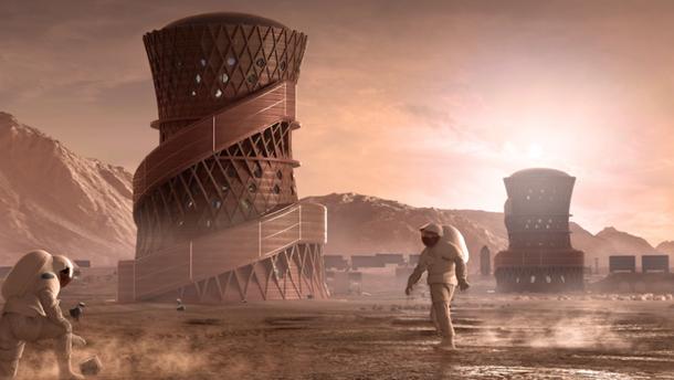 Сколько времени нужно для строительства города на Марсе