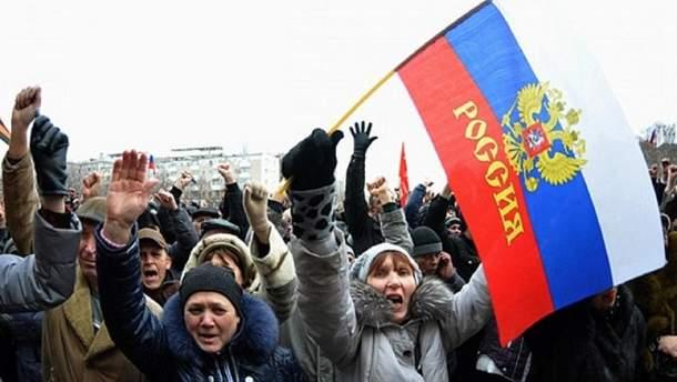 """Жителі окупованого Донбасу хочуть воз'єднання з Росією і перемоги над """"укропами"""": опитування"""