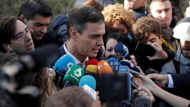 Лідер Соціалістичної робітничої партії Іспанії Педро Санчес
