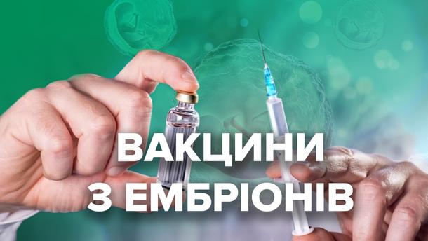 Вакцини з абортованих ембріонів: які види щеплень та чому так виготовляють