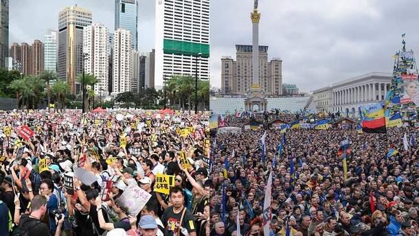 Почему протесты в Гонконге сравнивают с украинским Майданом