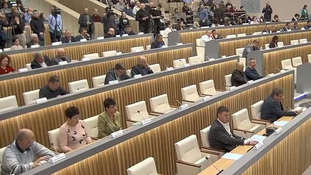 Полтавська облрада не проголосувала за звернення до Зеленського через Нові Санжари