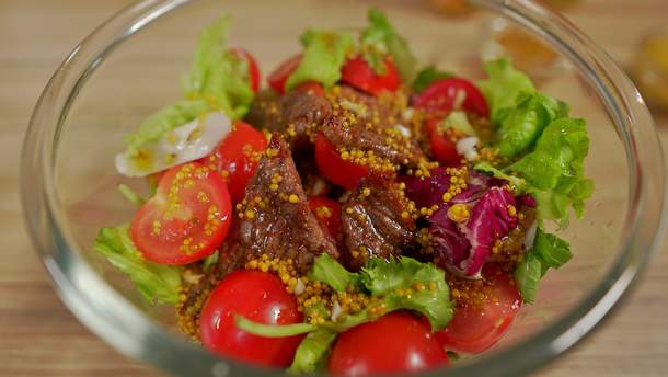 Зустрічаємо літо правильно: рецепт теплого салату з телятиною та гірчицею