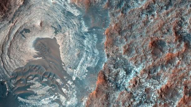 На Марсі виявили сліди безлічі льодовикових періодів