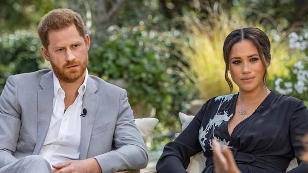 Думки про самогубство та расизм в королівській родині: головне з інтерв'ю Меган Маркл і Гаррі
