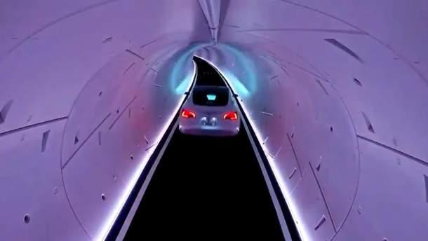 Медленно и скучно: журналисты рассказали о первых испытаниях поездок в тоннелях Boring Company