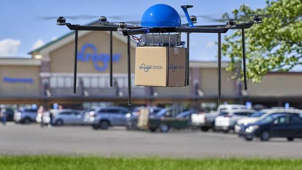 Повітряна доставка: продуктовий гігант тестує сервіс доставки замовлень дронами