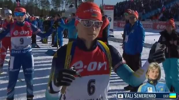 Валентина Семеренко на старті