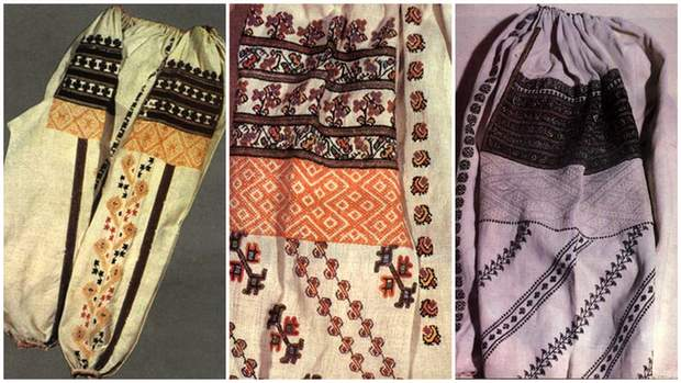 Украшенные вышиванки из Черновицкой области