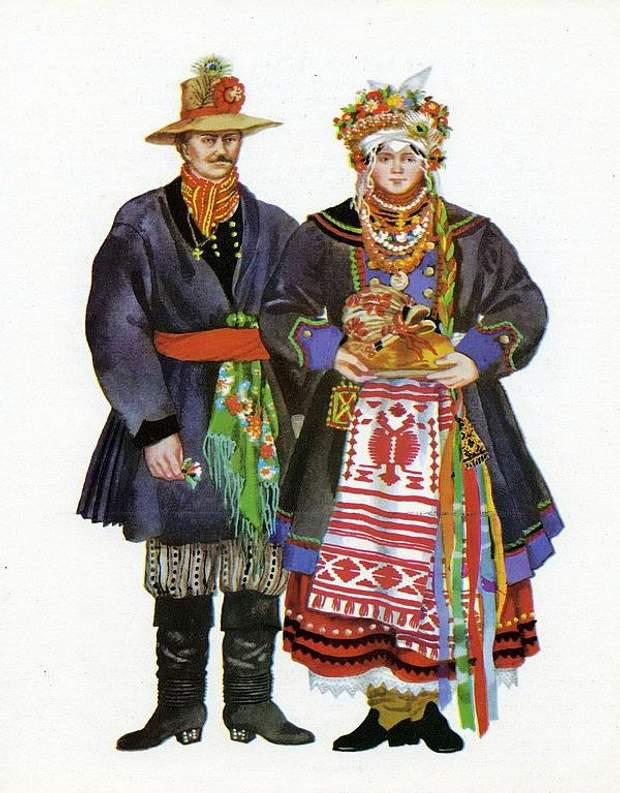 Поєднання червоного з блакитним ви знайдете у вишиванках Луганщини