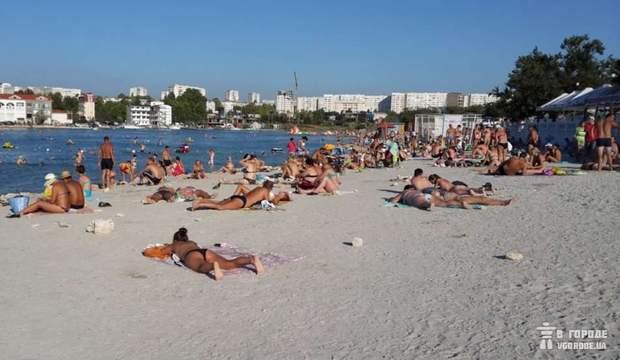 Пляж, Омега, Севастополь, море