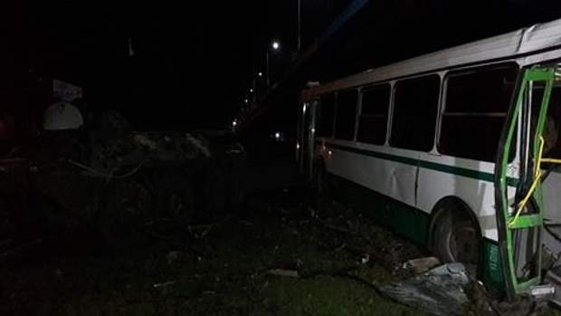 БТР, автобус, Донбас