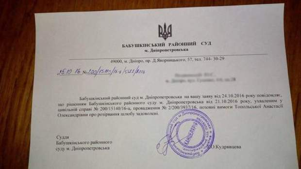 Лещенко, Топольська, суд