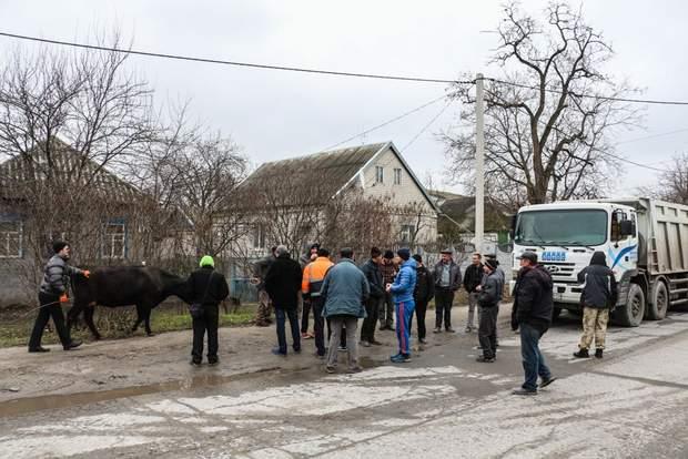 Протест, вантажівки, Дніпро