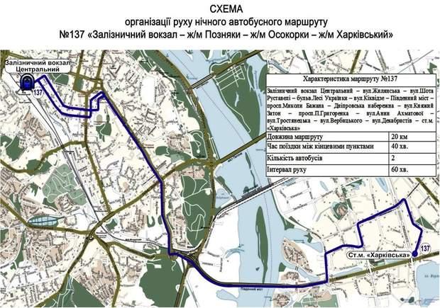 Автобус, ніч, Київ