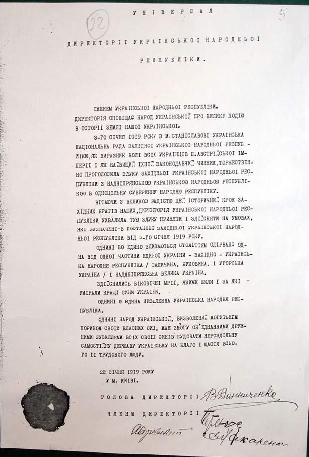 Злука, документ, Україна, Соборність
