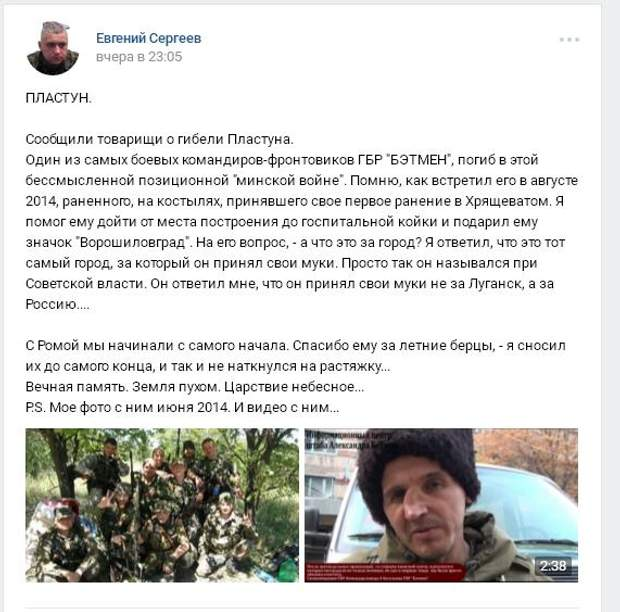 Пластун, ЛНР, Донбас