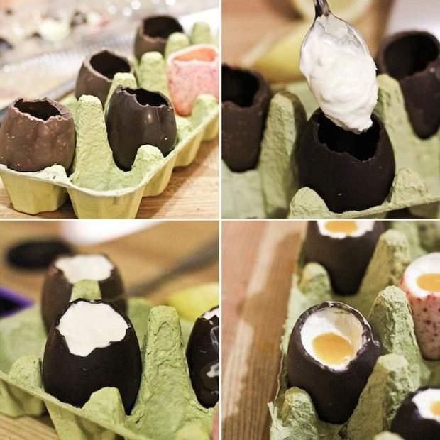 Шоколадні пасхальні яйця: простий рецепт