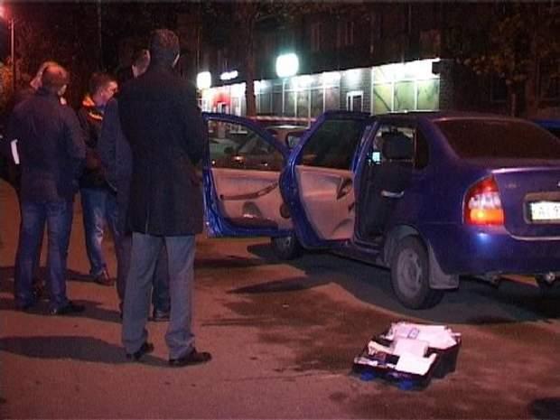 Фото з місця убивства таксиста