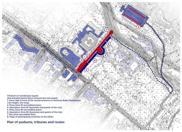 Схема червоної доріжки
