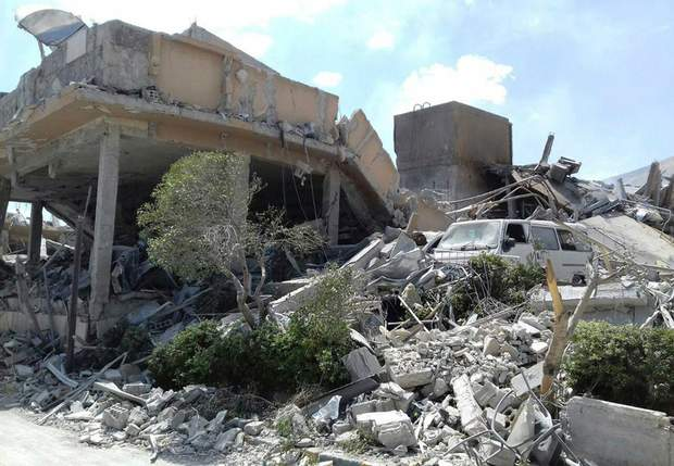 Сирія, удар, війна, руйнування, США, Британія, Франція, хімічна промисловість, рак