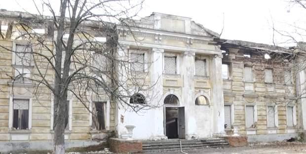Палац Шидловських після пожежі