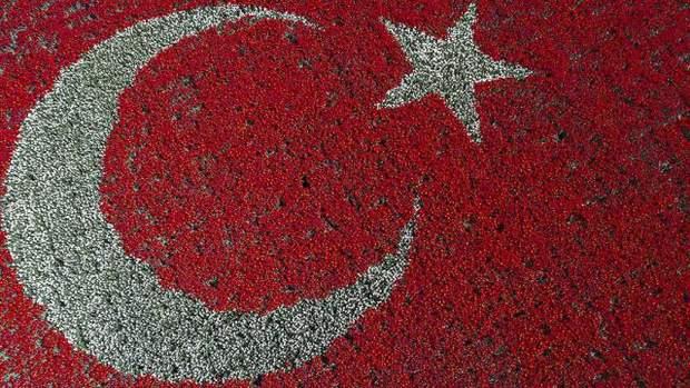 турецький прапор з тюльпанів