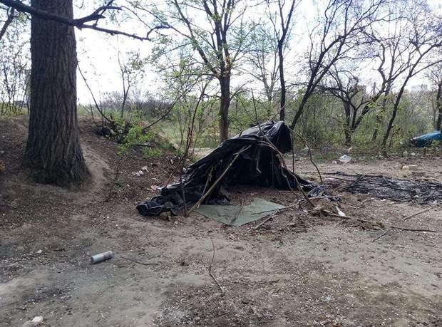 Пожежа табір роми Київ
