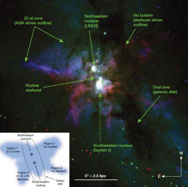 Морфологія галактики NGC 6240 за даними телескопа