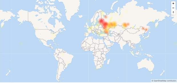 Карта проблем з YouTube