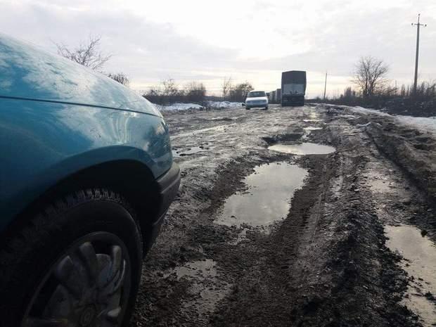 Дорога біля Мукачево