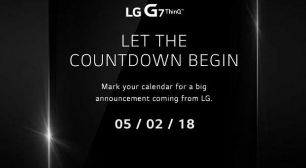 Компанія LG оголосила офіційну дату презентації G7 ThinQ