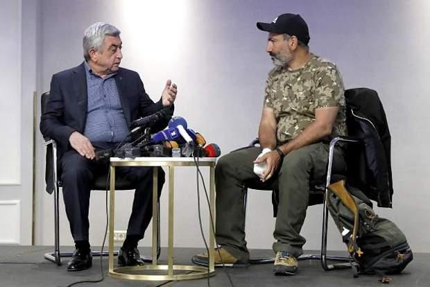 Саргсян Пашинян переговори