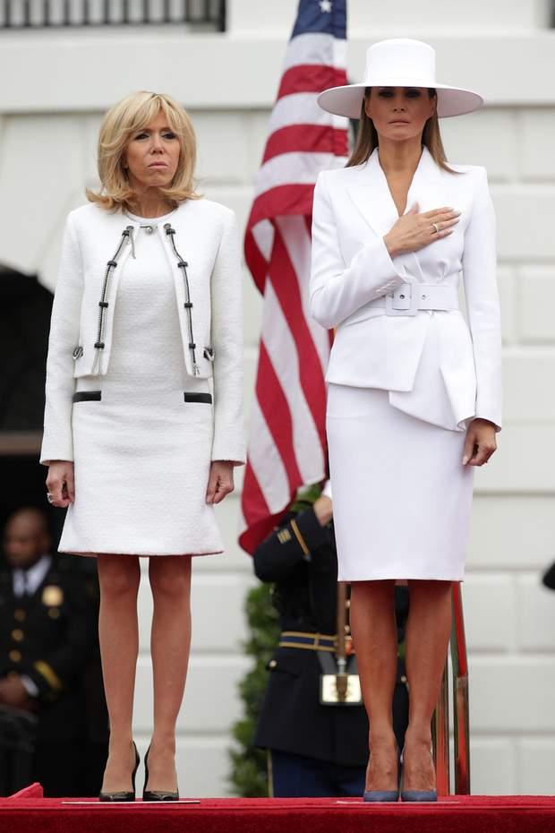 Меланія Трамп і Бріджит Макрон