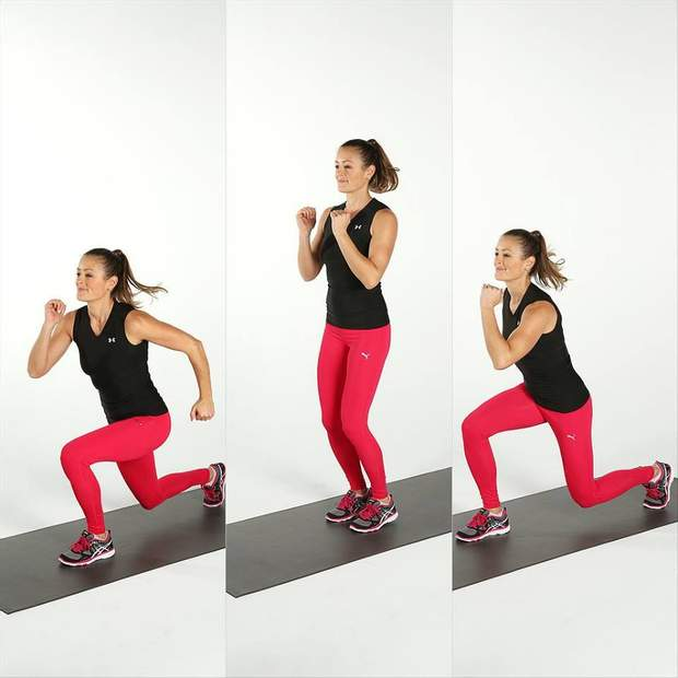 Під час випаду вагу потрібно розподіляти на обидві ноги