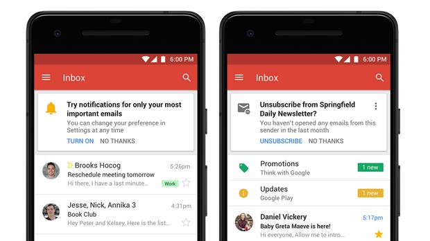 Нові функції  Gmail